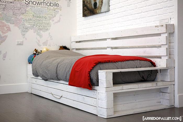 Preferenza Camere da letto in pallet riciclo YA99