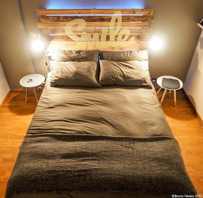 Ben noto Camere da letto in pallet riciclo QH93