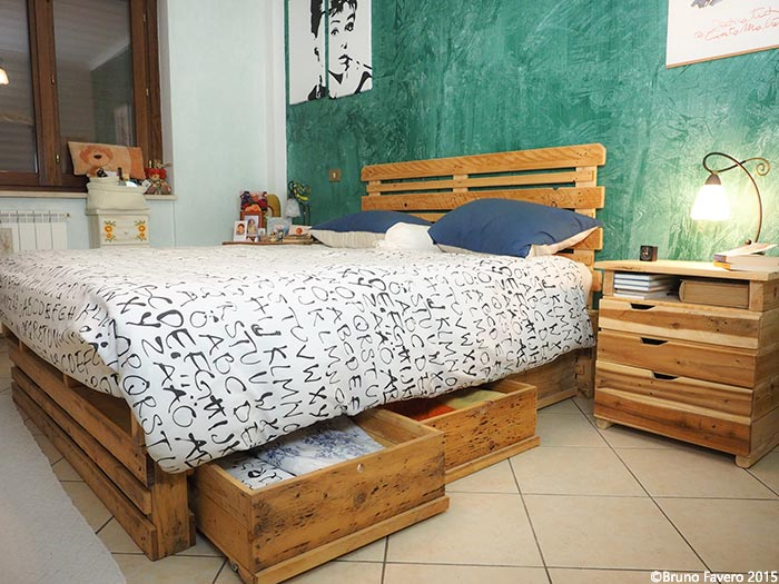 Conosciuto Camere da letto in pallet riciclo RH69