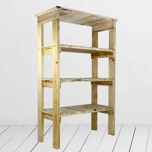 Arredamento in pallet mobili con bancali riciclati for Scaffali legno arredamento