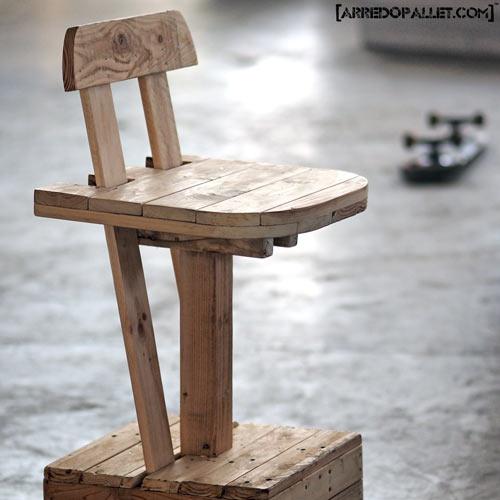 Comodini con pallet arredamento in pallet mobili con for Sgabelli in legno economici