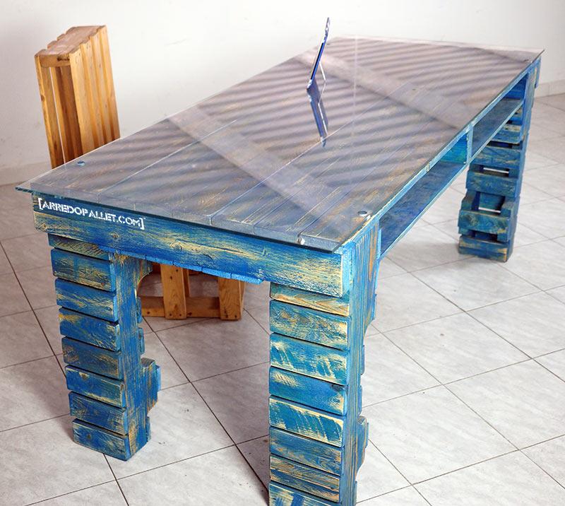 scrivania in pallet
