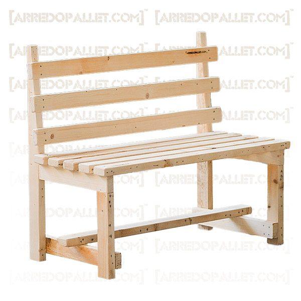 panchina legno recupero