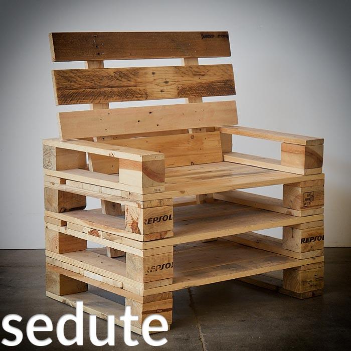 Arredamento in pallet mobili con bancali riciclati - Mobili fatti con i pallet ...