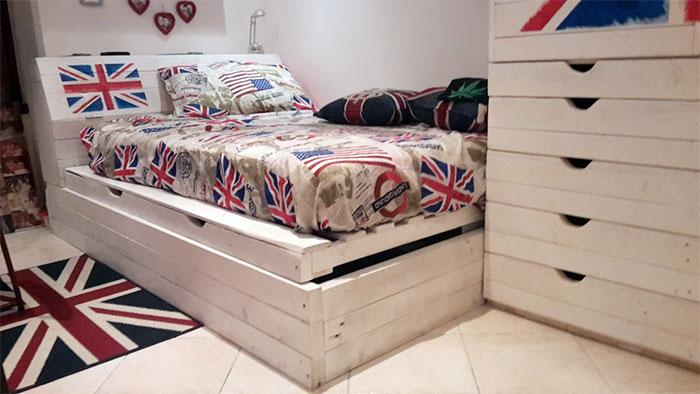 Letto Di Pallets : Camere da letto in pallet riciclo