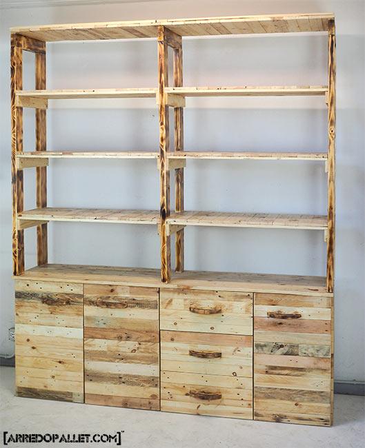 Scaffali monaci arredopallet for Garage con negozio