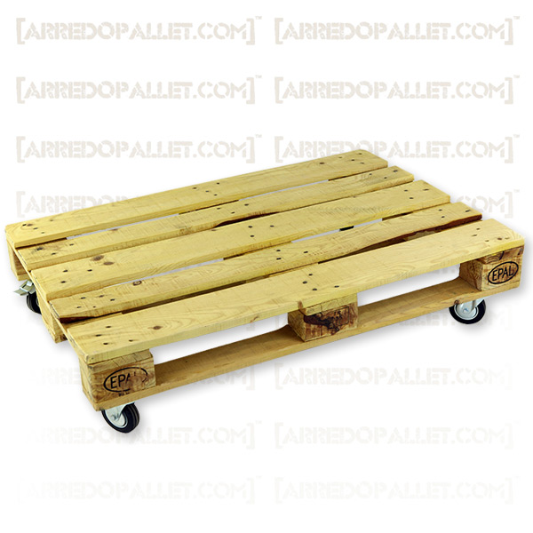 Tavolini Pallet : Pable colour tavolino con ruote in pallet riciclato
