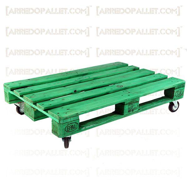 tavolino in pallet con ruote