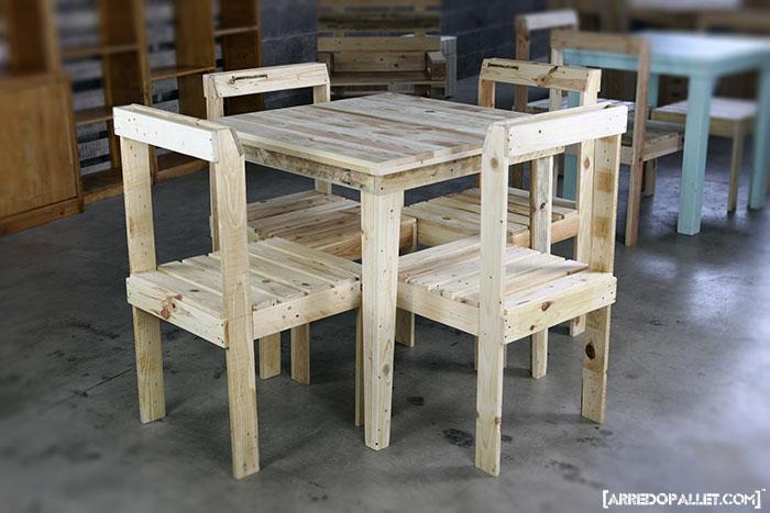 tavolo in pallet riciclato