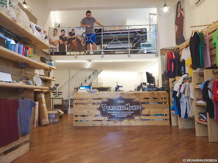 allestimento negozi in pallet