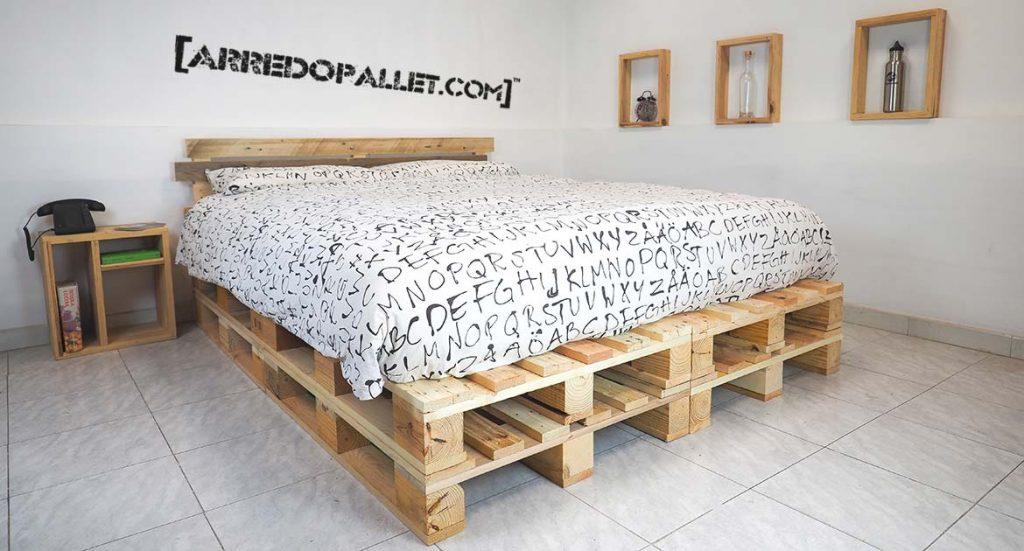 Camere da letto in pallet riciclo - Testiera letto pallet ...