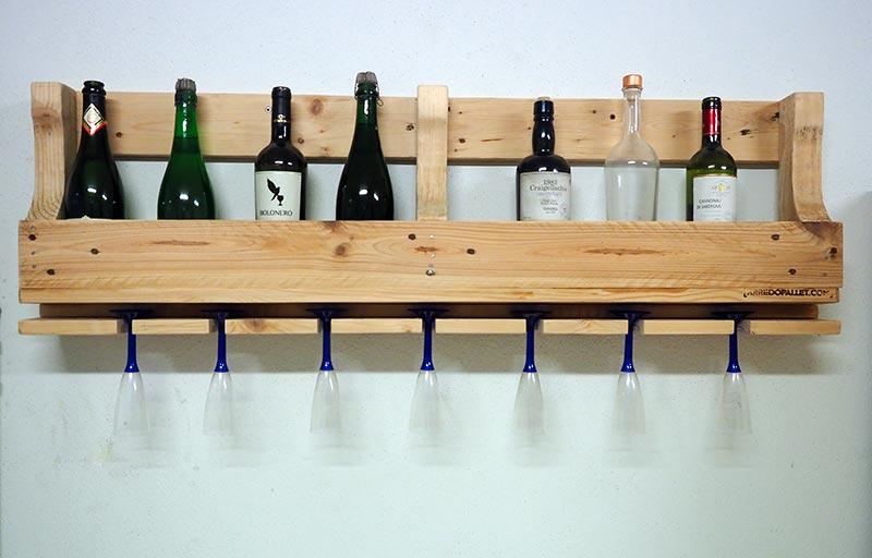 porta bottiglie in pallet