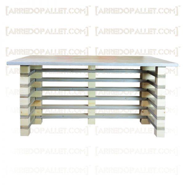 scrivania con bancali